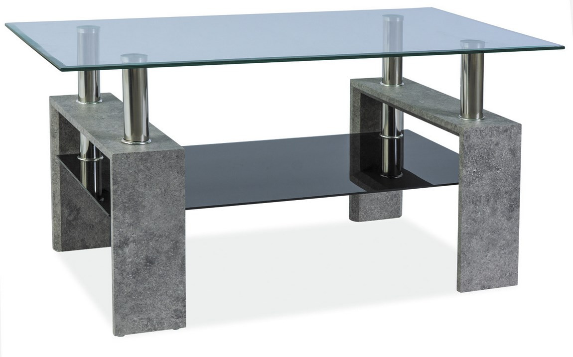 Casarredo Konferenční stolek LISA III - šedý kámen
