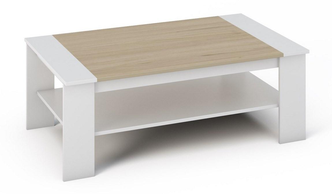 Casarredo Konferenční stolek BERN bílá/sonoma