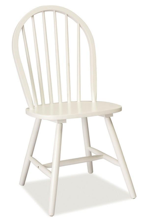 Casarredo Jídelní dřevěná židle FIERO bílá