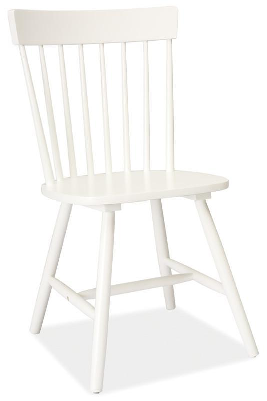 Casarredo Jídelní dřevěná židle ALERO bílá