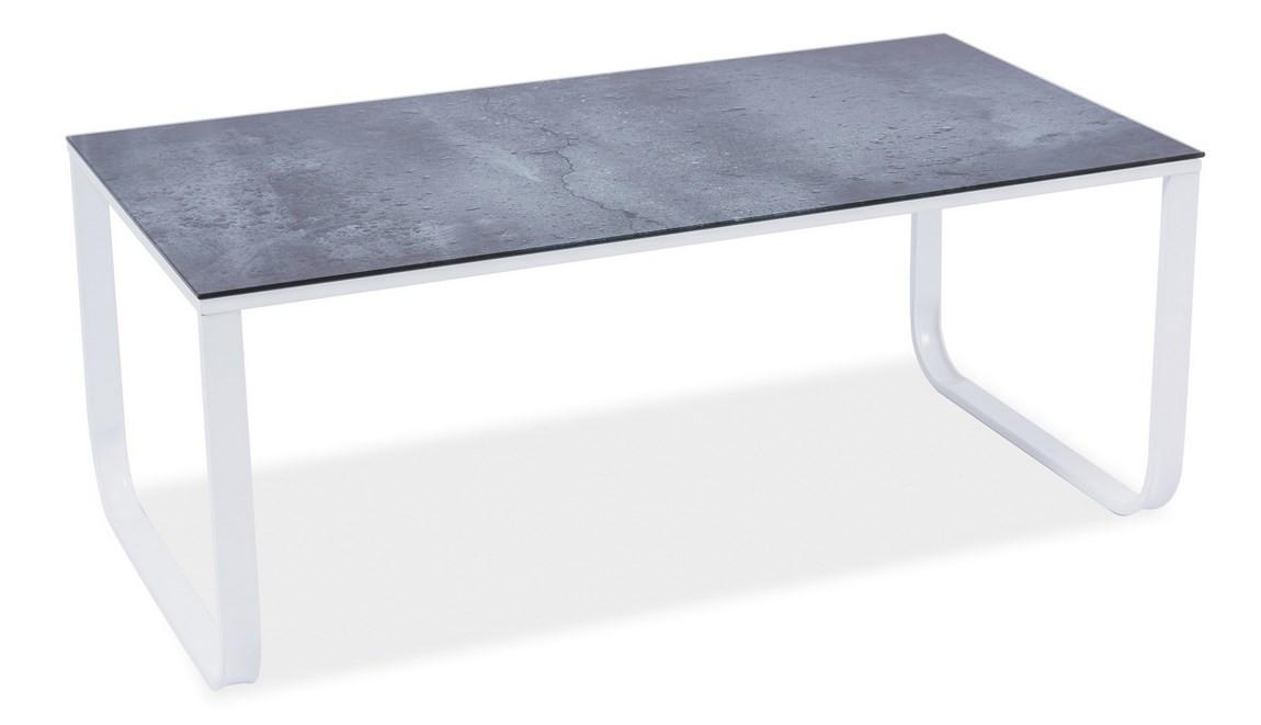 Casarredo Konferenční stolek TAXI II šedý kámen/bílá