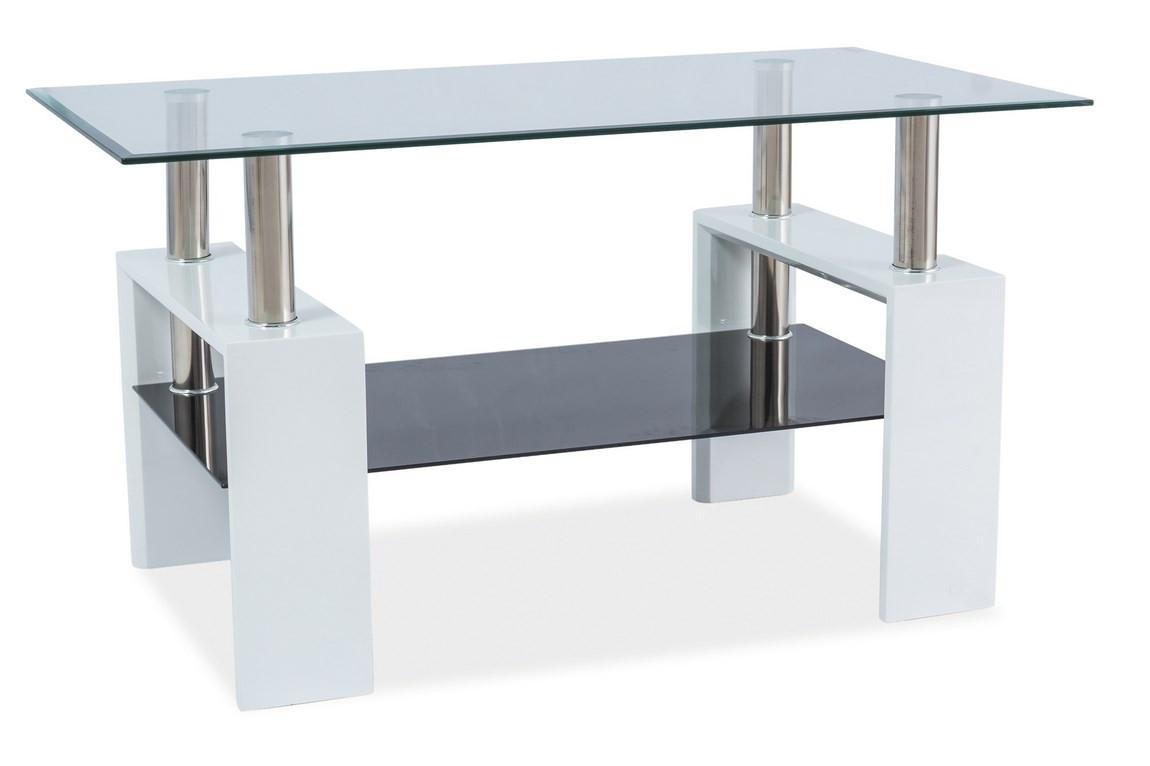Casarredo Konferenční stolek LISA III - bílý lak