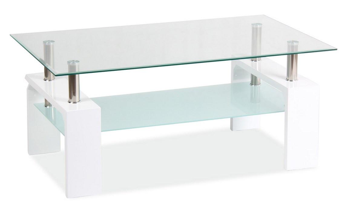 Casarredo Konferenční stolek LISA BASIC II - bílý