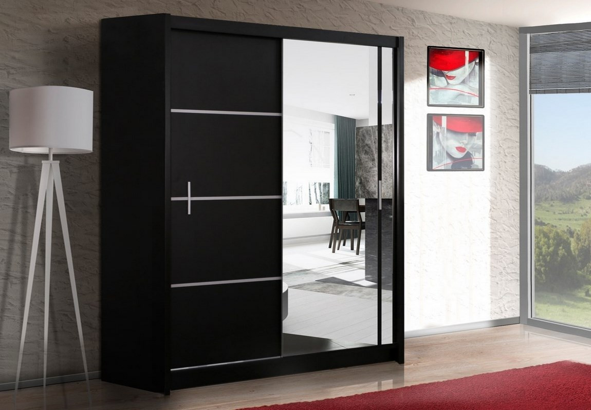 Casarredo Šatní skříň VISTA 180 černá