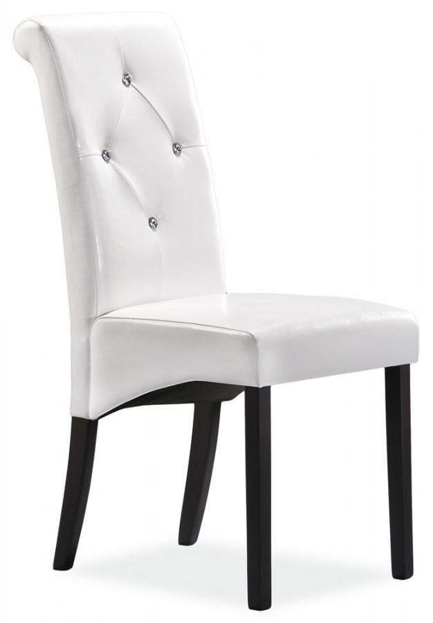 Casarredo Jídelní čalouněná židle C-121 venge/bílá
