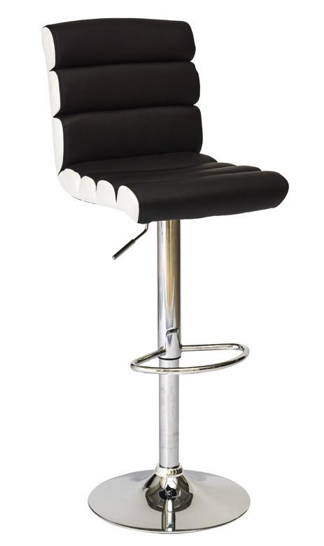 Casarredo Barová židle KROKUS C-617 černá/bílá