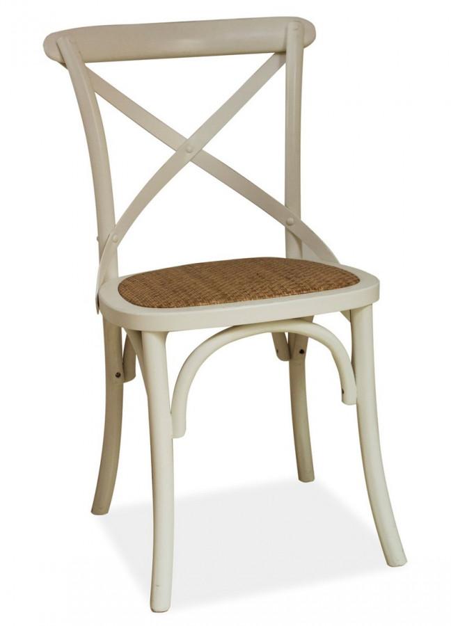 Casarredo Jídelní dřevěná židle LARS bílá