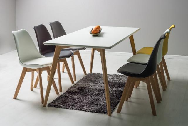 Jídelní židle KRIS žlutá/dub