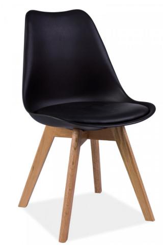 Jídelní židle KRIS černá/dub