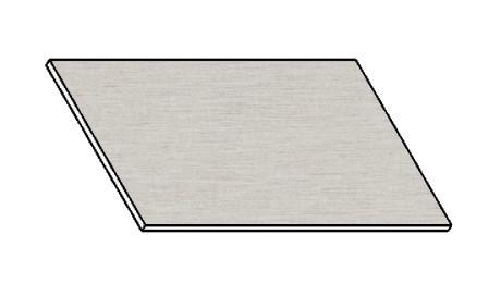 Kuchyňská pracovní deska 60 cm - aluminium mat