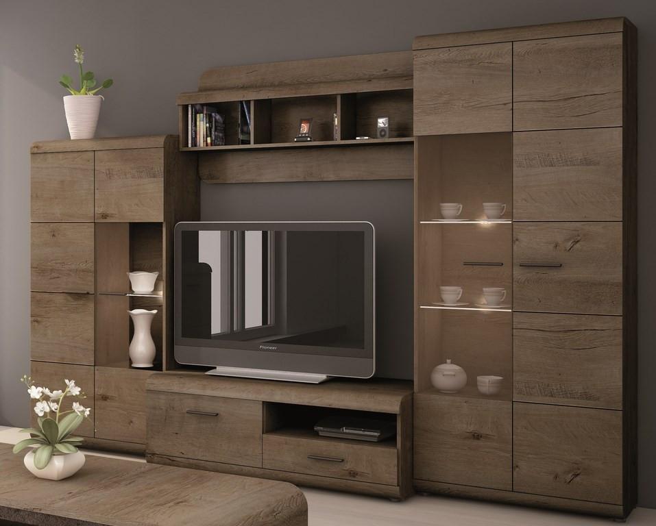 Casarredo Obývací stěna LENA (vitrína V a N, TV stolek 120, police)