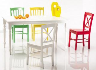 Jídelní dřevěná židle CD-56 modrá