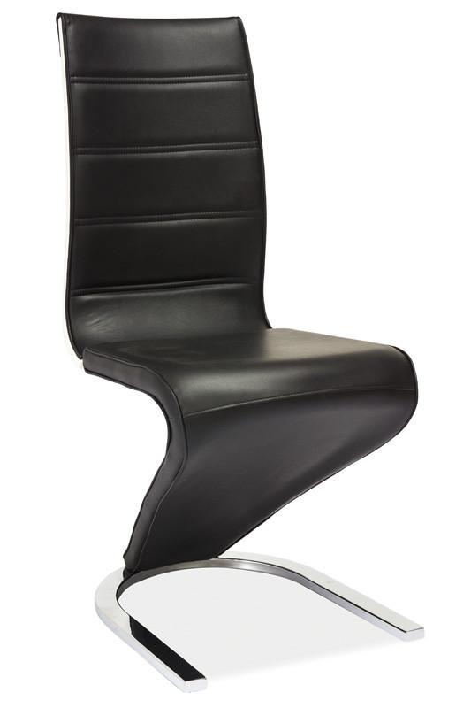 Casarredo Jídelní čalouněná židle H-134 černá/bílá