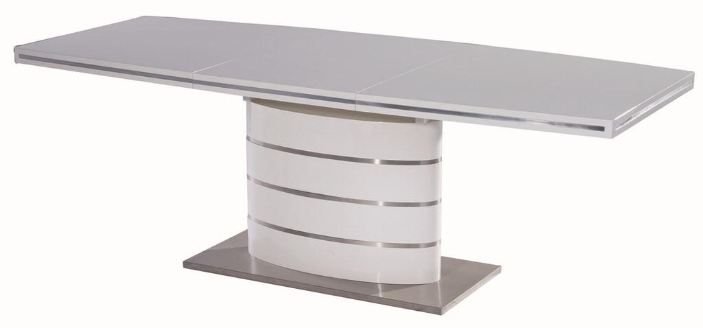 Casarredo Jídelní stůl FANO 160 bílý rozkládací