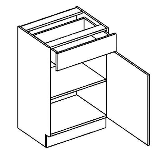 Casarredo Dolní skříňka se zásuvkou MORENO D50/S1 dolní skříňka se zásuvkou sonoma