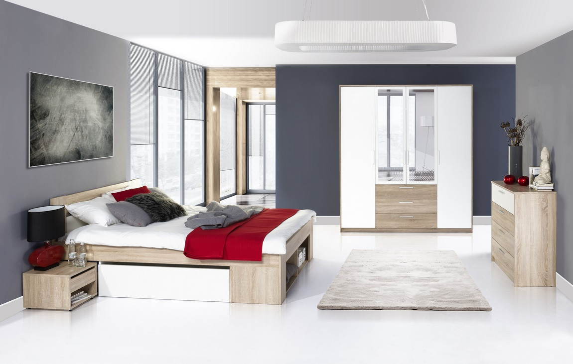 Casarredo Ložnice MILO ( postel 160, komoda 4S, skříň )