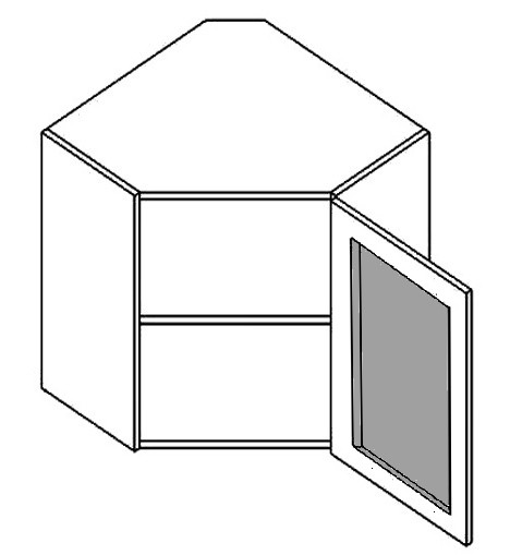 Casarredo WR60WMR h. vitrína rohová PREMIUM de LUX olše mraž. sklo