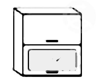 Casarredo W60SP horní skříňka výklopná PREMIUM de LUX olše