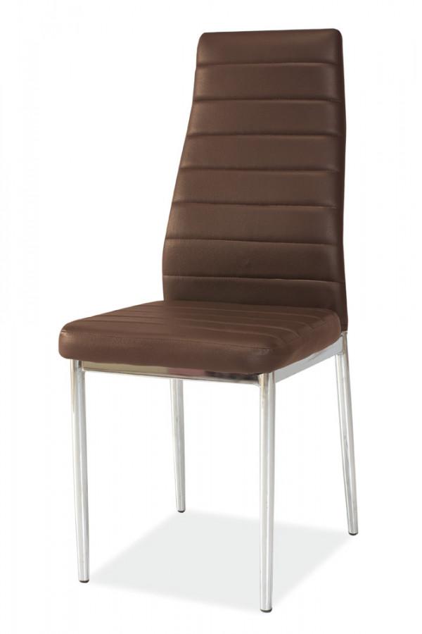 Casarredo Jídelní čalouněná židle H-261 hnědá