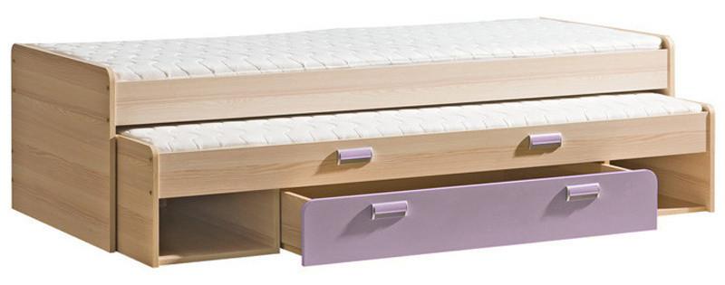 Casarredo LIMO L16 výsuvná postel s úl. prostorem fialová