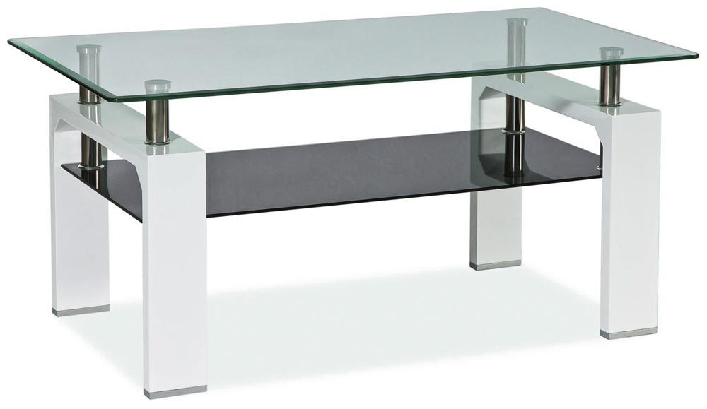 Casarredo Konferenční stolek LISA II - bílý lak