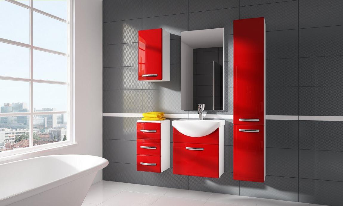 Casarredo Koupelnová sestava CORAL červená