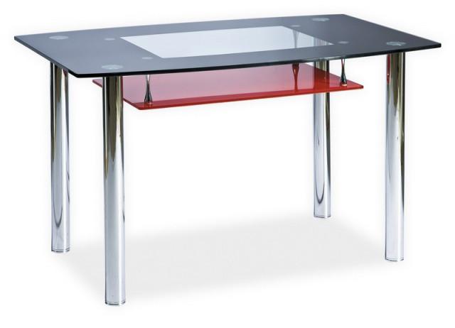 Jídelní stůl TWIST A červená polička