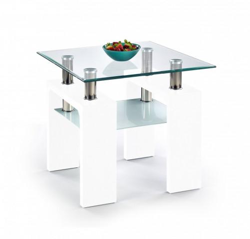 Konferenční stolek Diana H kwadrat, bílý lak