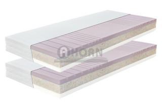 Postel Lorano 180x200 dub světlý + rošty Primaflex + matrace Delvia - AKČNÍ SET č.3
