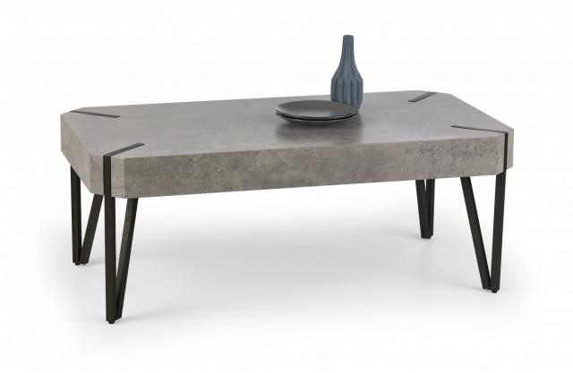 Konferenční stolek EMILY, beton / černý