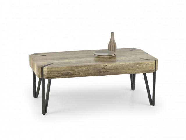 Konferenční stolek EMILY, dub divoký / černá