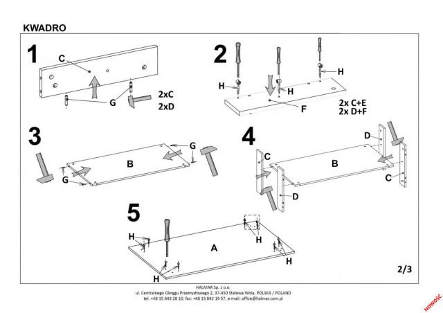 Konferenční stolek Kwadro č.7