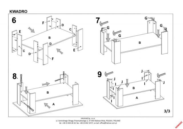 Konferenční stolek Kwadro č.8