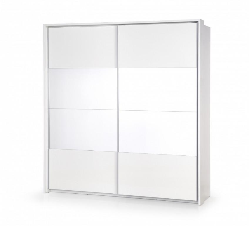 Skříň DREAM SP-2, bílá se zrcadlem