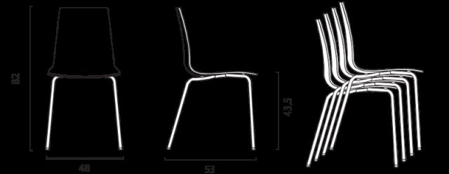 Jídelní židle Lollipop č.7