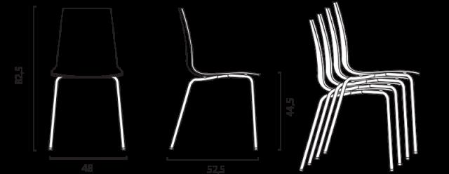 Jídelní židle Candy mat č.9