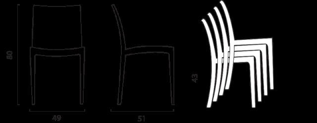 Židle Venice č.10
