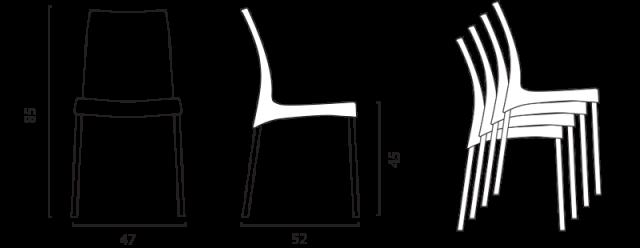 Jídelní židle Boulevard č.8