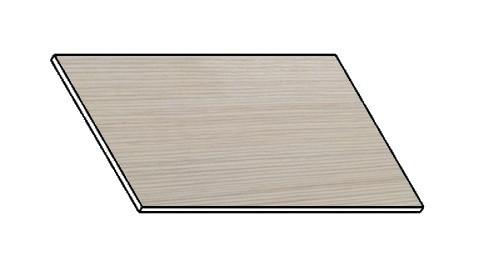 Casarredo Kuchyňská pracovní deska 40 cm bílá borovice
