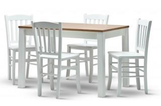 Dřevěná židle Veneta - bílá