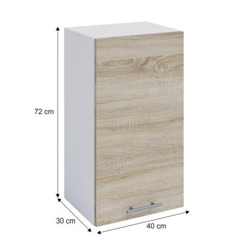 Horní skříňka, dub sonoma / bílá, FABIANA W - 40 č.3