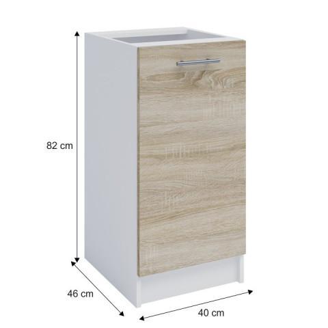 Dolní skříňka, dub sonoma / bílá, FABIANA S - 40 č.3