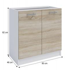 Dolní skříňka, dub sonoma / bílá, FABIANA S - 80 č.4
