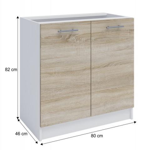 Dolní skříňka, dub sonoma / bílá, FABIANA S - 80 č.3