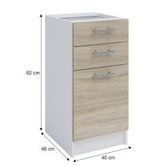Dolní skříňka, dub sonoma / bílá, FABIANA S - 40SZ2 č.4