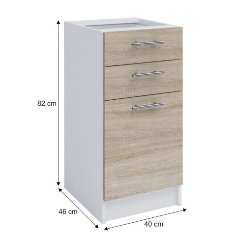 Dolní skříňka, dub sonoma / bílá, FABIANA S - 40SZ2 č.3