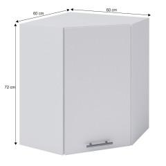 Horní rohová skříňka, bílá, FABIANA W - 60N č.4