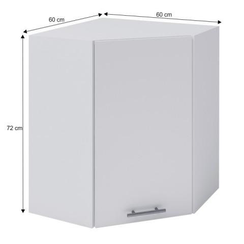 Horní rohová skříňka, bílá, FABIANA W - 60N č.3