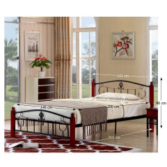 Kovová postel MAGENTA - 140x200 č.2