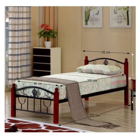 Kovová postel MAGENTA - 90x200 č.2